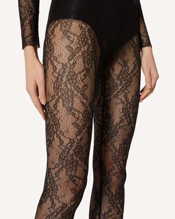 REDValentino Lace jersey leggings