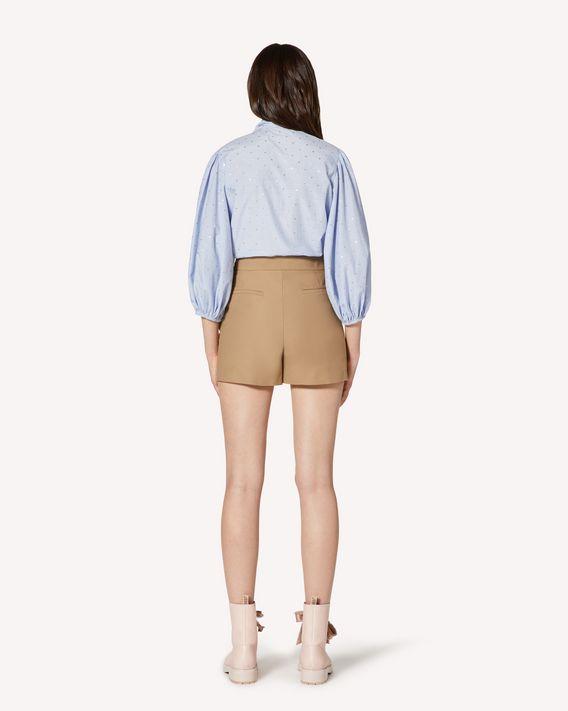 REDValentino Ruffle detail armuré tech shorts