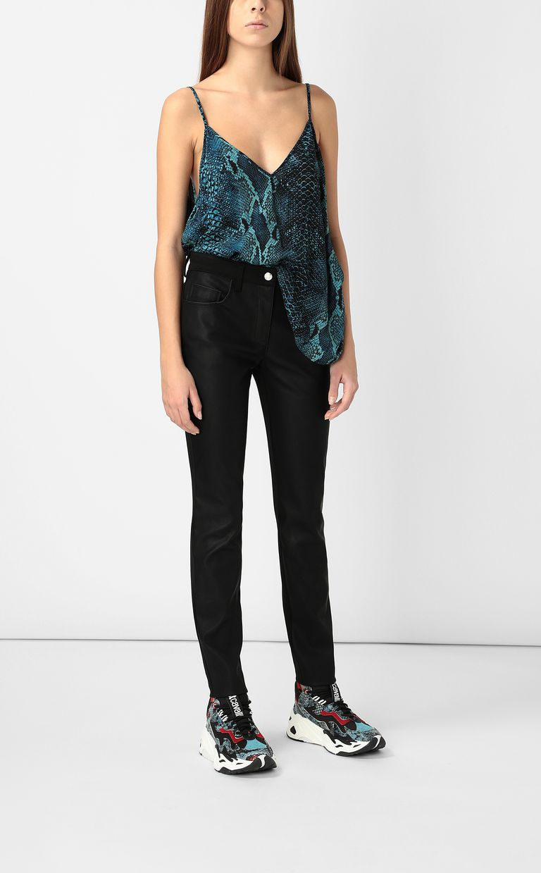 JUST CAVALLI Faux-leather trousers Casual trouser Woman d