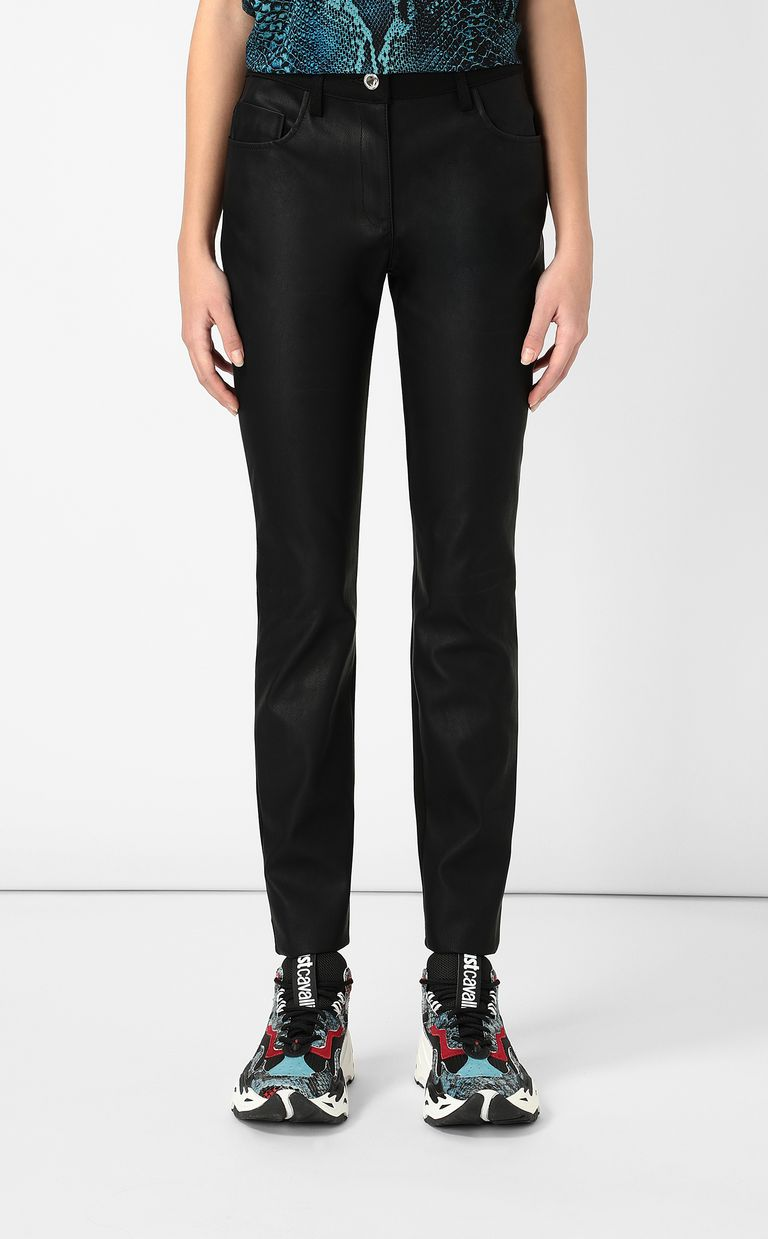 JUST CAVALLI Faux-leather trousers Casual trouser Woman r