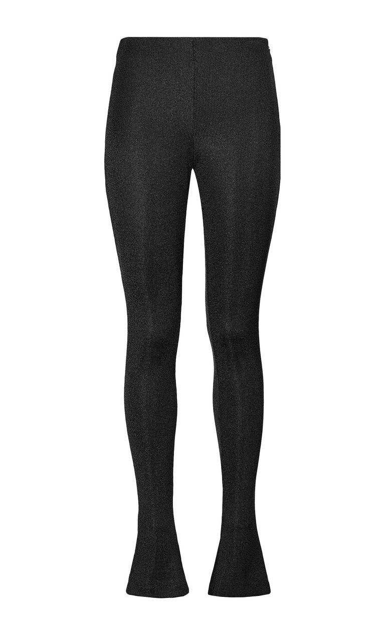 JUST CAVALLI Black lurex trousers Casual pants Woman f