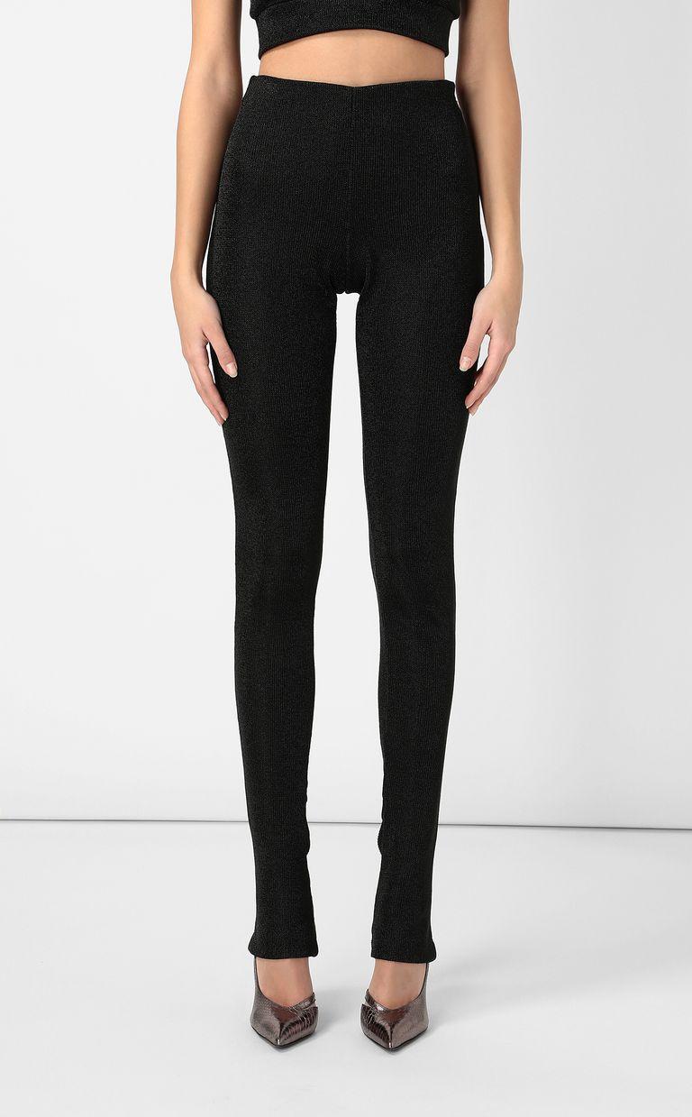JUST CAVALLI Black lurex trousers Casual pants Woman r