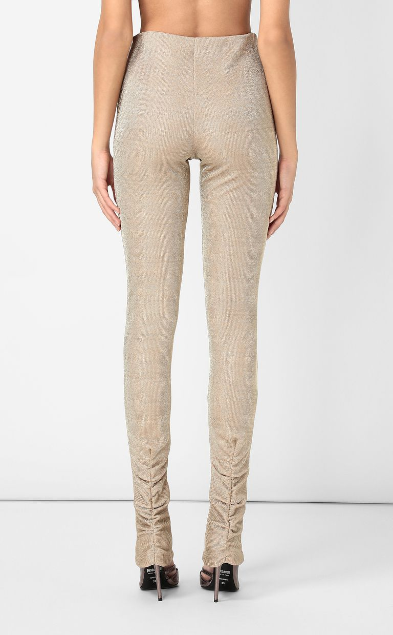 JUST CAVALLI Gold lurex trousers Casual pants Woman a