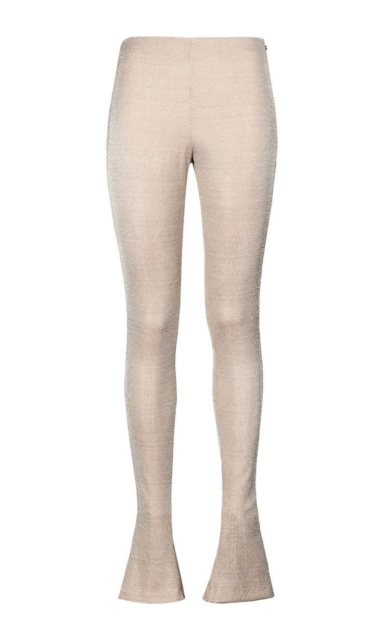 JUST CAVALLI Gold lurex trousers Casual pants Woman f