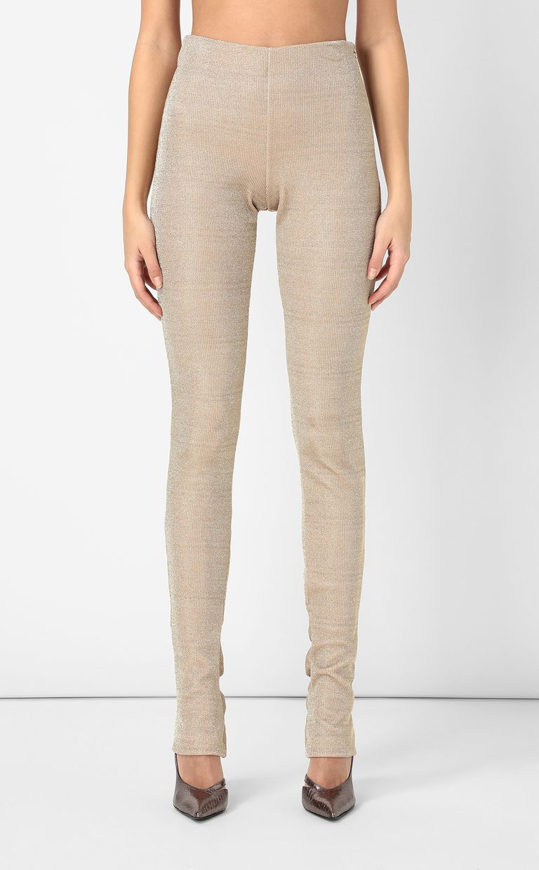 JUST CAVALLI Gold lurex trousers Casual pants Woman r