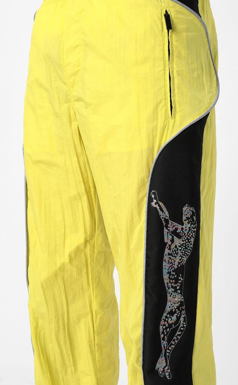 JUST CAVALLI Cheetah-detail trousers Casual pants Man e