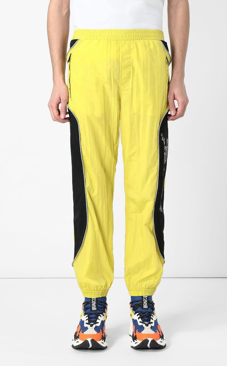 JUST CAVALLI Cheetah-detail trousers Casual pants Man r