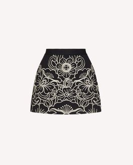REDValentino Floral embroidered cotton gabardine shorts