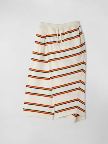Marni STRIPED WRAP-AROUND COTTON JERSEY PANTS  Woman f