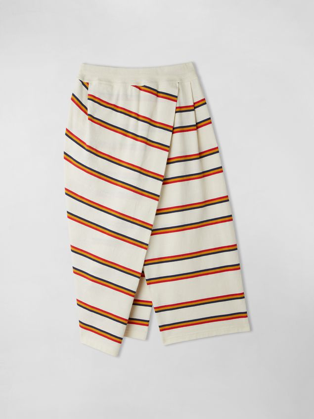 Marni WRAP-AROUND COTTON JERSEY STRIPED TROUSERS  Woman