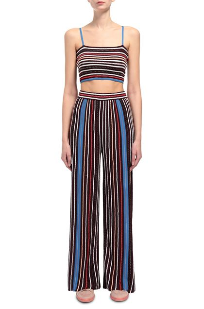 M MISSONI Pants Maroon Woman - Back