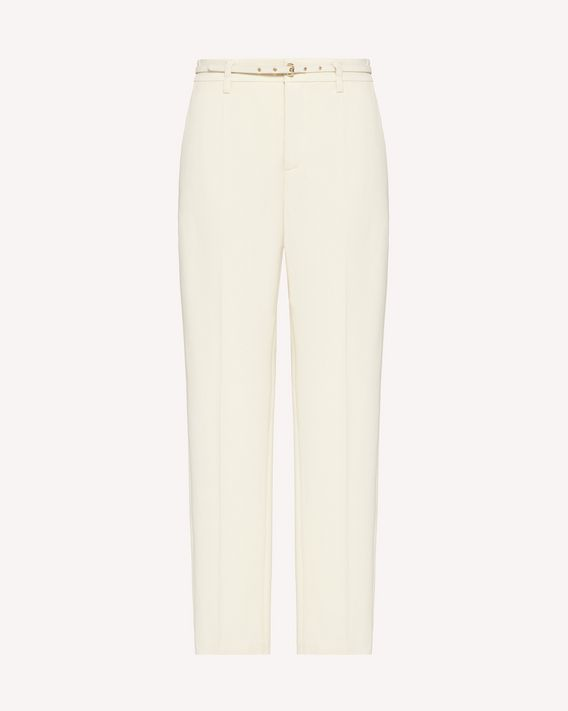 REDValentino Belt detail stretch frisottine pants