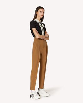 REDValentino Pantaloni in gabardine di cotone lana con pinces