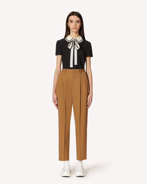 REDValentino Cotton gabardine pants with darts detail