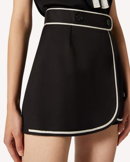 REDValentino Cotton cady shorts with contrasts