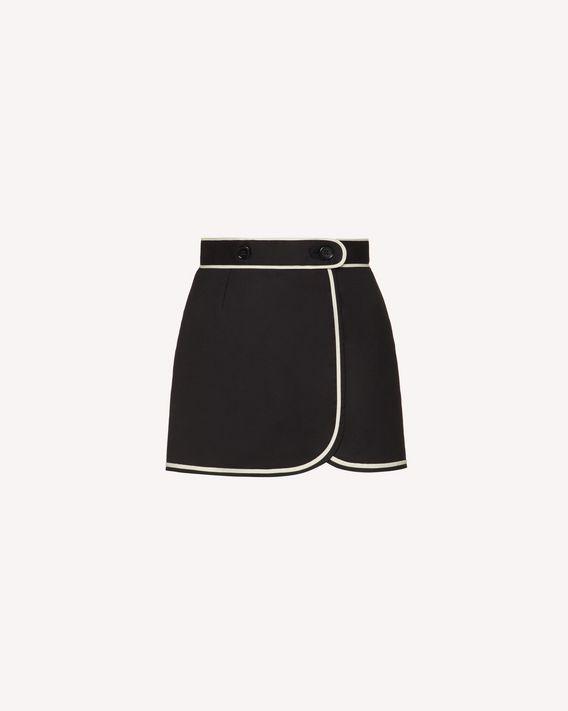 REDValentino Short en cady de coton à contrastes