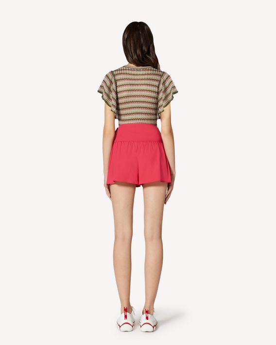 REDValentino Shorts in compact poplin with bow detail