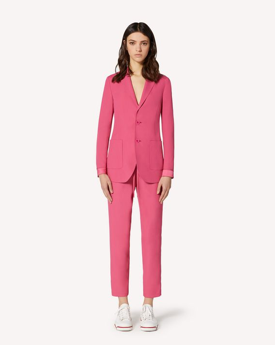 REDValentino Satin-backed crepe pants