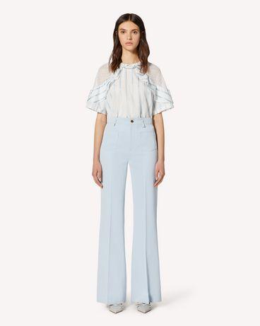 REDValentino Pantaloni svasati in gabardine di cotone lana