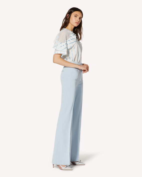 REDValentino Cotton gabardine flared pants