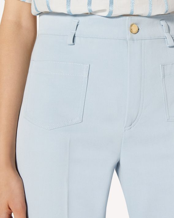 REDValentino Cotton gabardine flared pants
