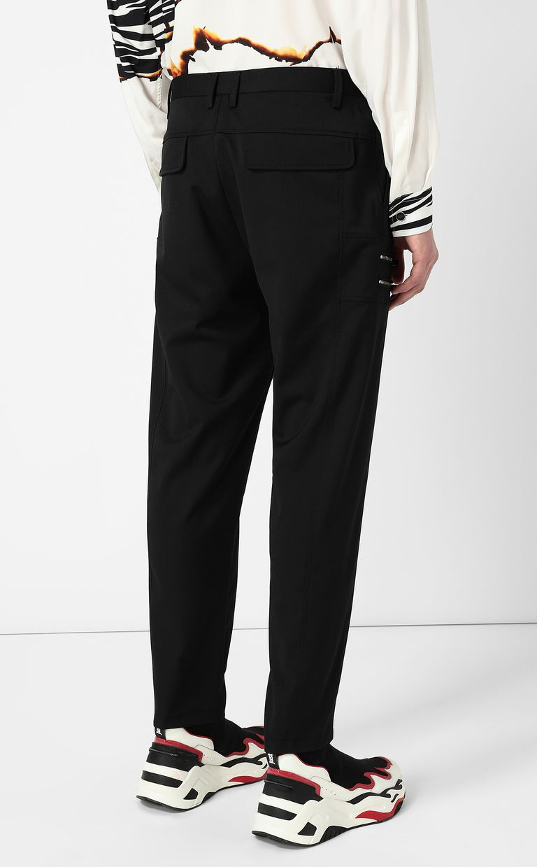 JUST CAVALLI Elegant trousers with zip detail Casual trouser Man a