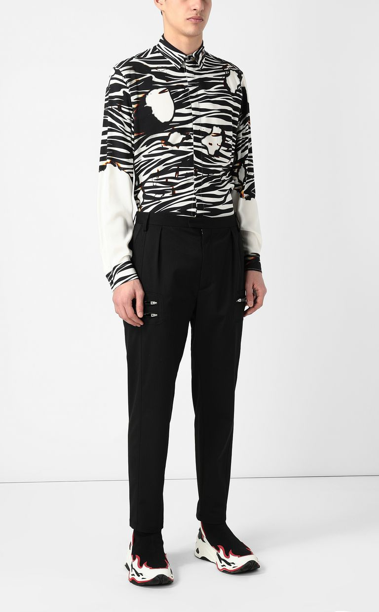 JUST CAVALLI Elegant trousers with zip detail Casual trouser Man d
