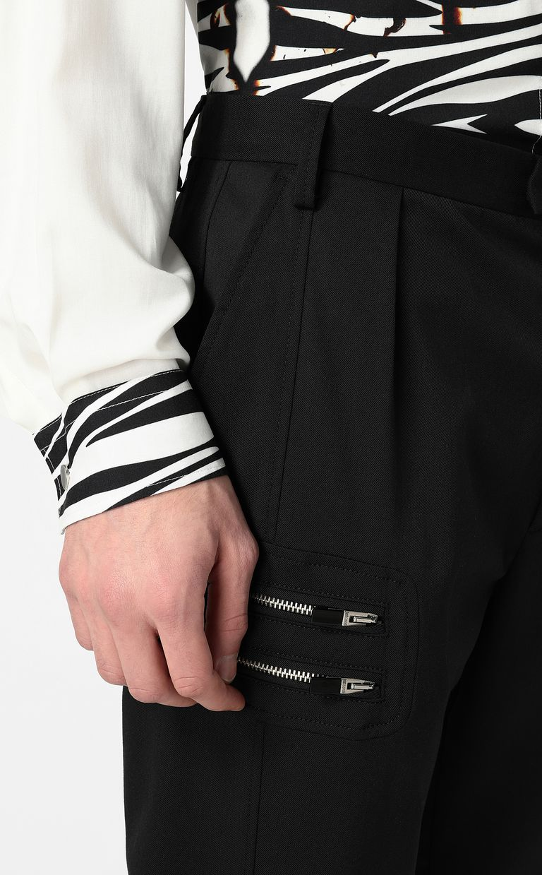 JUST CAVALLI Elegant trousers with zip detail Casual pants Man e
