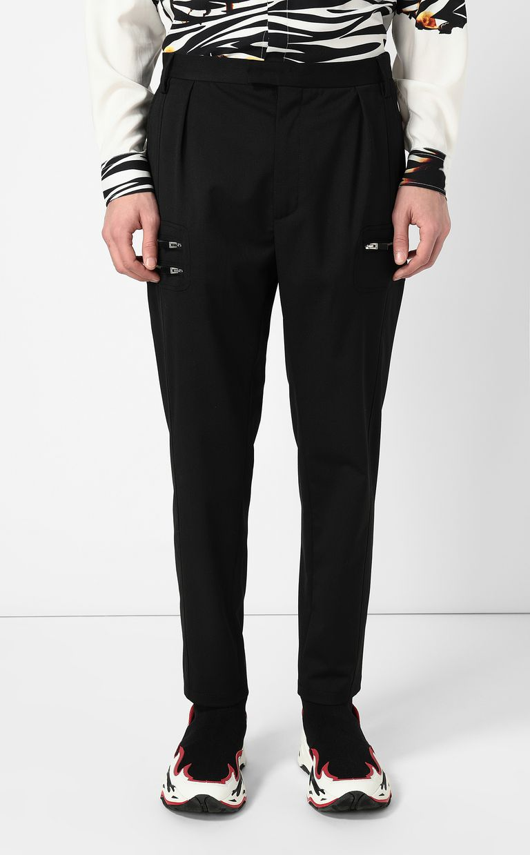 JUST CAVALLI Elegant trousers with zip detail Casual pants Man r