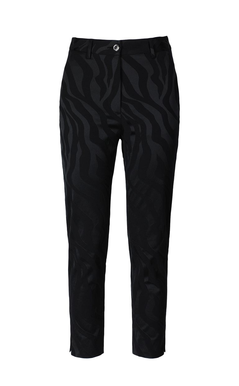 JUST CAVALLI Trousers in zebra-stripe jacquard Casual pants Woman f
