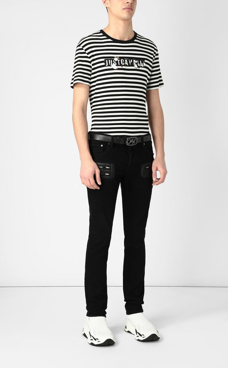 JUST CAVALLI Jeans with zip detailing Jeans Man d