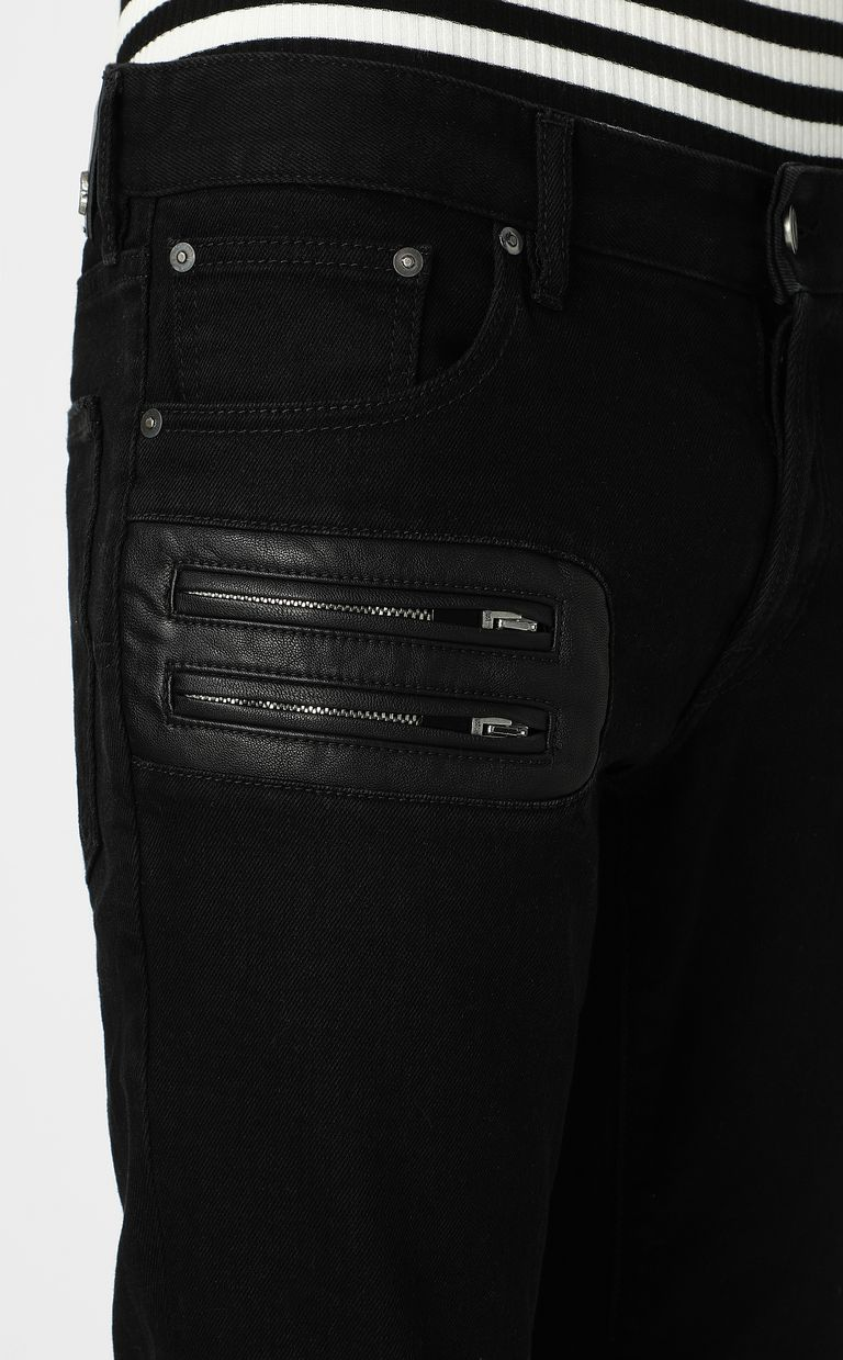 JUST CAVALLI Jeans with zip detailing Jeans Man e