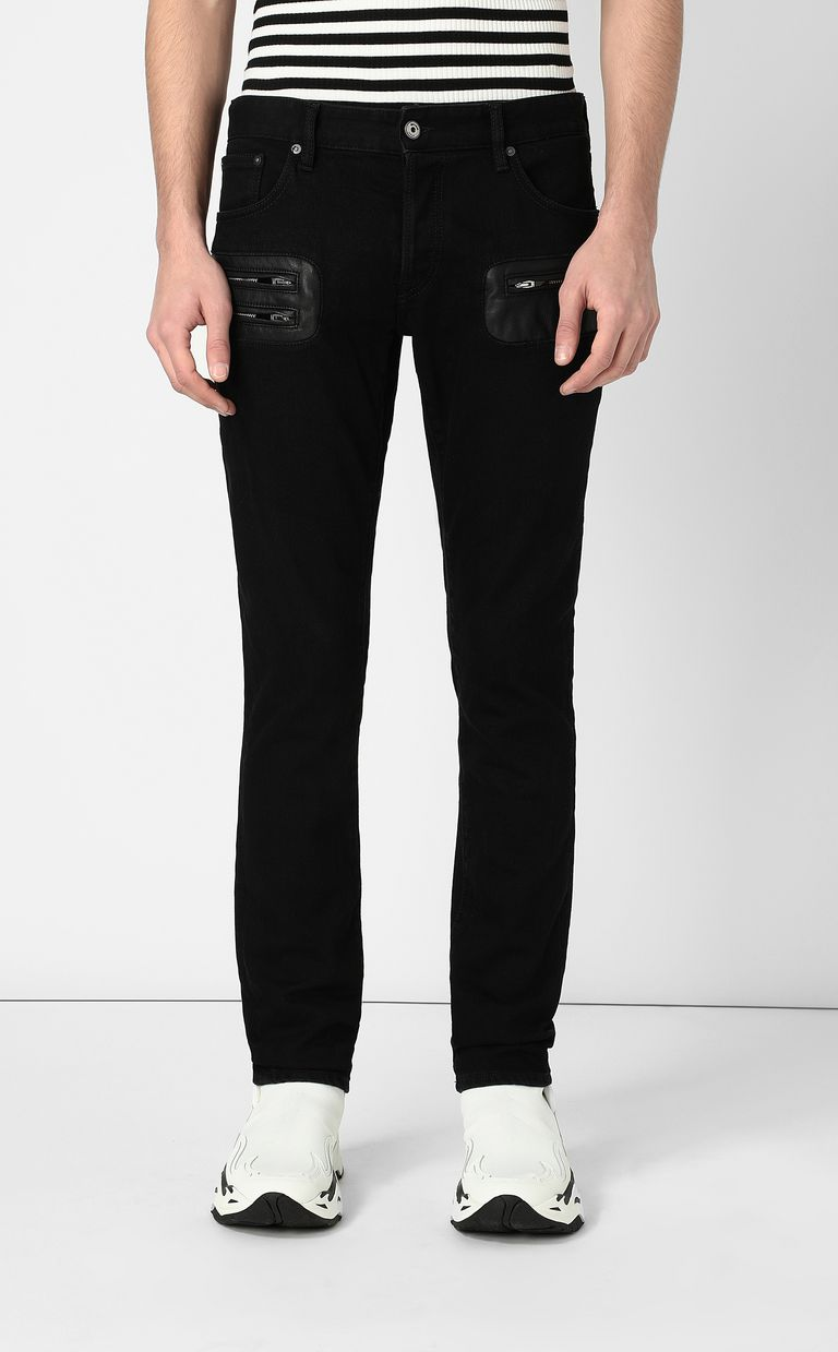 JUST CAVALLI Jeans with zip detailing Jeans Man r