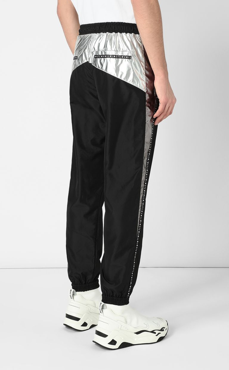 JUST CAVALLI Metallic-effect nylon trousers Casual pants Man a