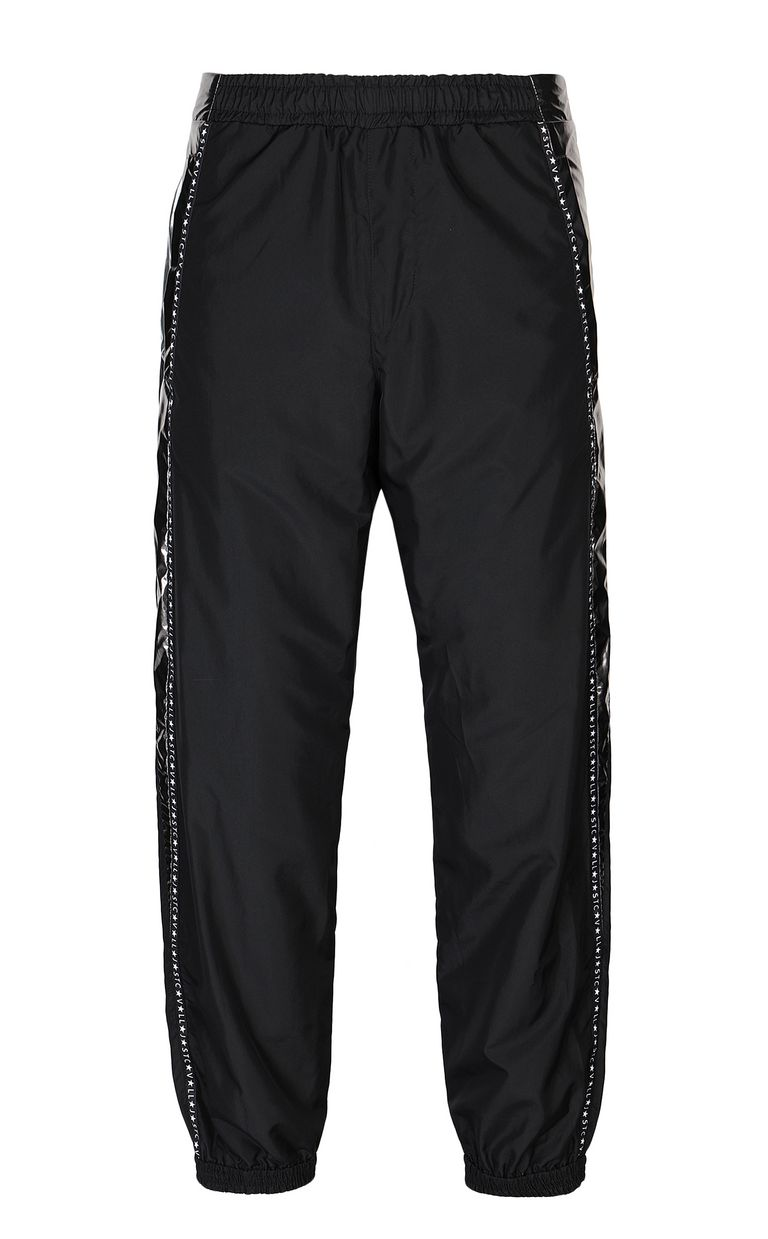 JUST CAVALLI Metallic-effect nylon trousers Casual pants Man f