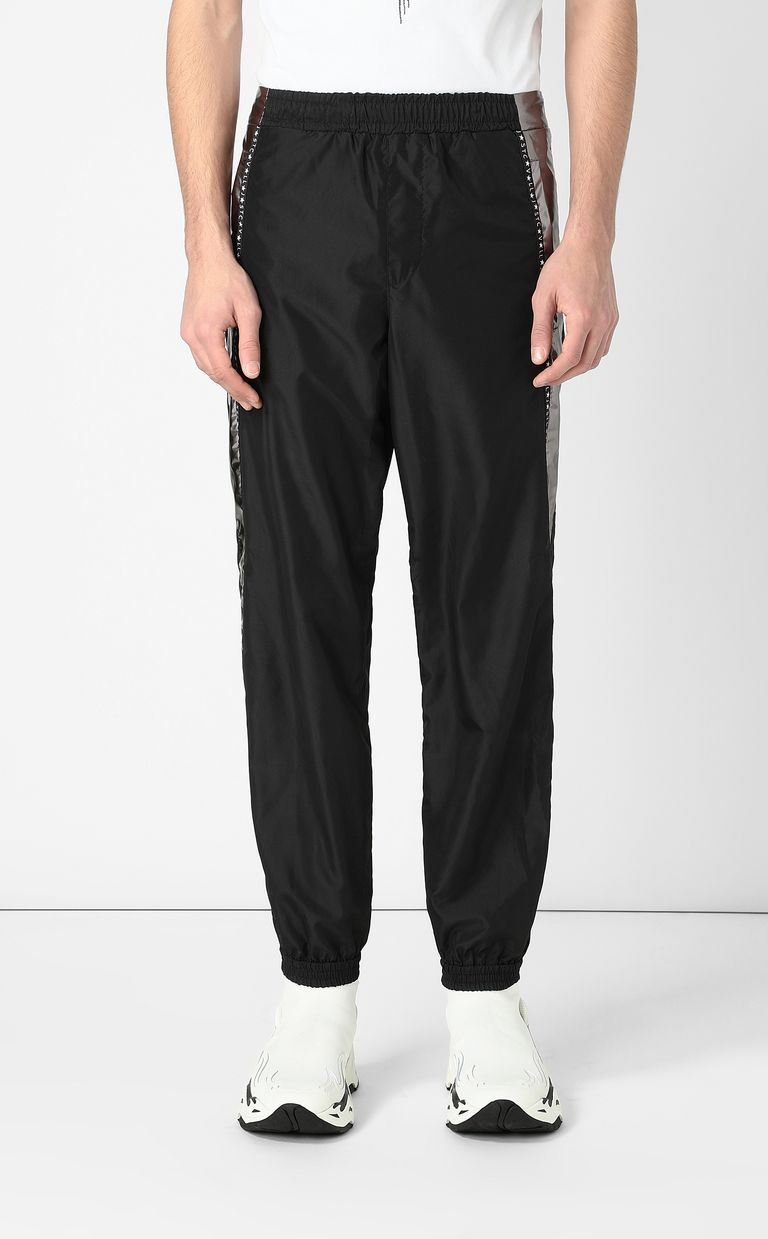 JUST CAVALLI Metallic-effect nylon trousers Casual pants Man r
