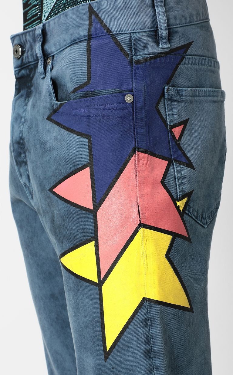 JUST CAVALLI Jeans with star detail Casual pants Man e