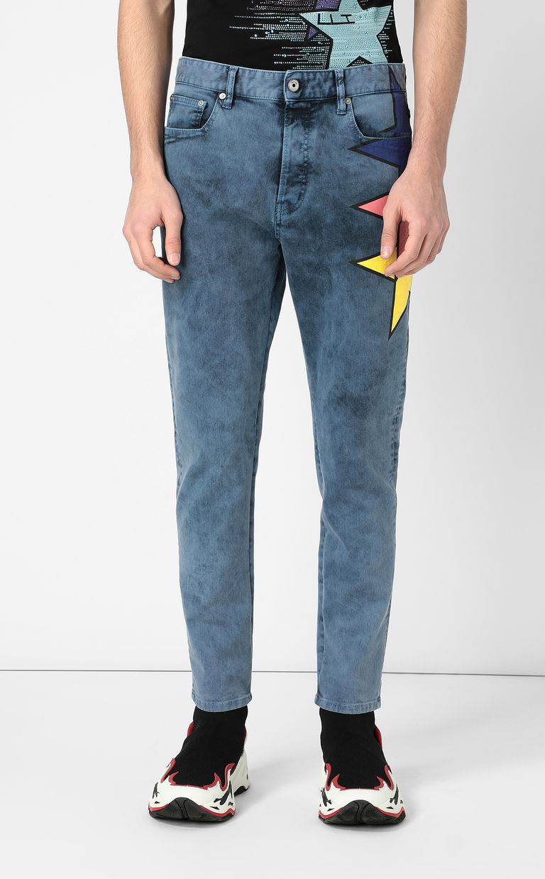 JUST CAVALLI Jeans with star detail Casual pants Man r