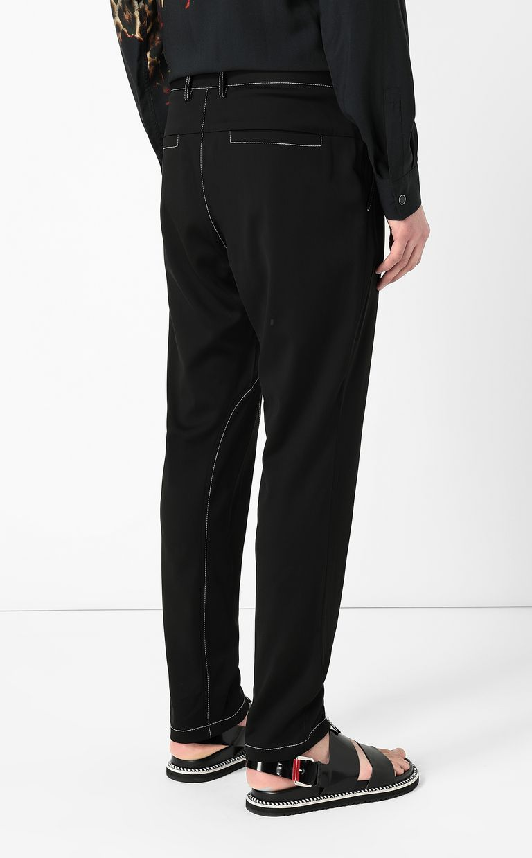 JUST CAVALLI Trousers with zip detailing Casual pants Man a