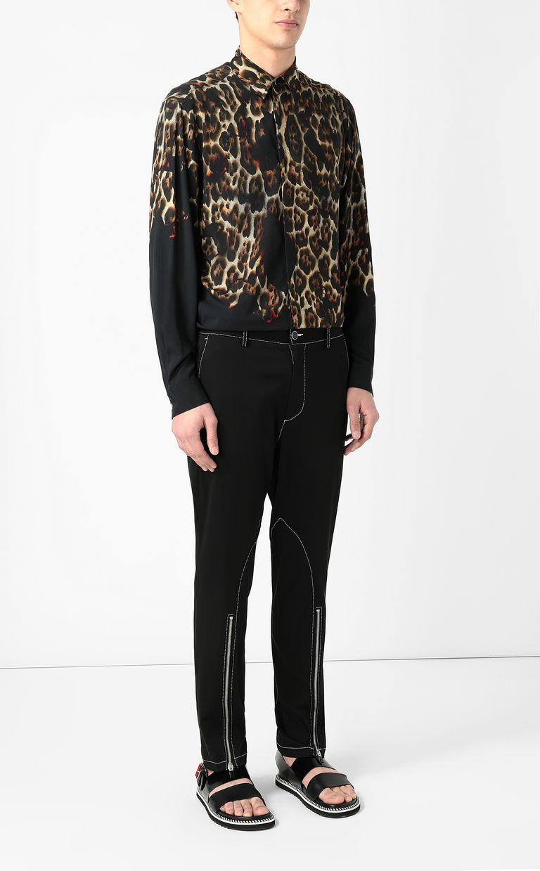 JUST CAVALLI Trousers with zip detailing Casual pants Man d