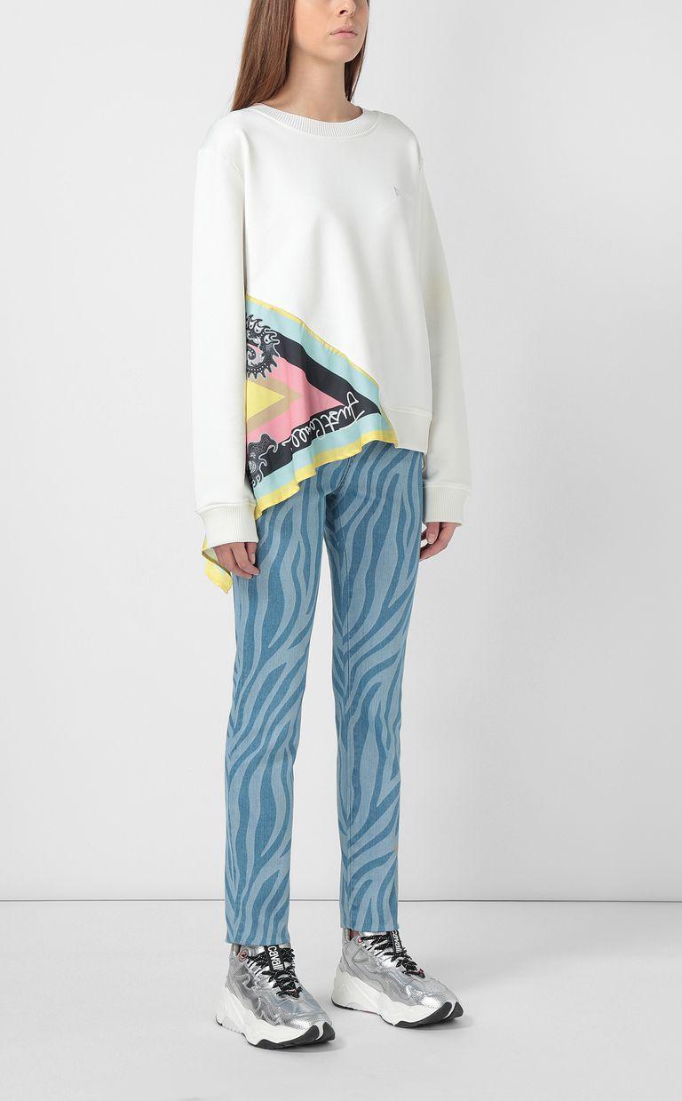 JUST CAVALLI Zebra-stripe skinny jeans Casual pants Woman d