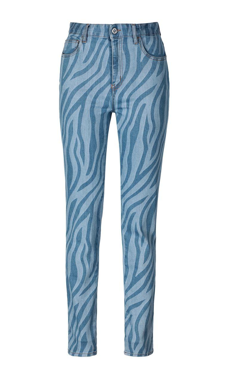 JUST CAVALLI Zebra-stripe skinny jeans Casual pants Woman f