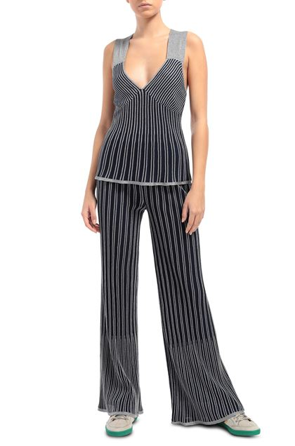 M MISSONI Pants Dark blue Woman - Back