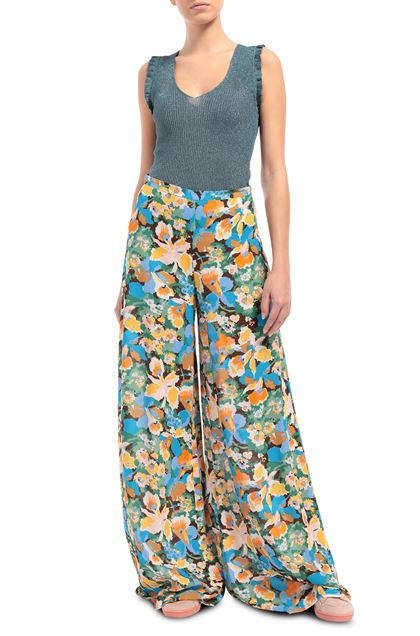 M MISSONI Pants Azure Woman - Back