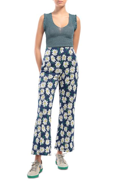 M MISSONI Pants Blue Woman - Back