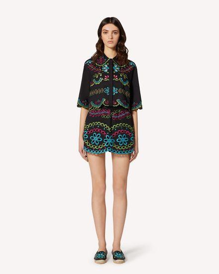 REDValentino Shorts Woman TR0RF00I51M N78 f