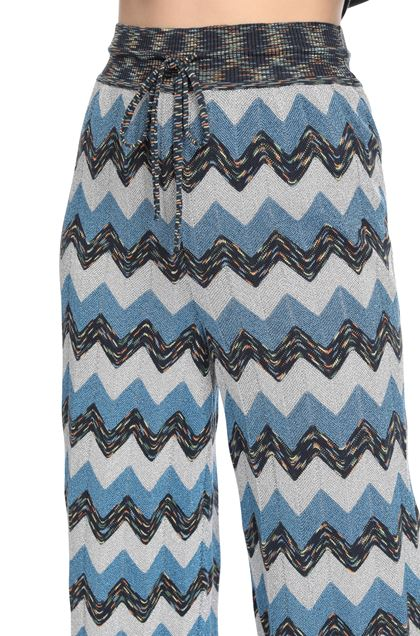 M MISSONI Pants Pastel blue Woman - Front