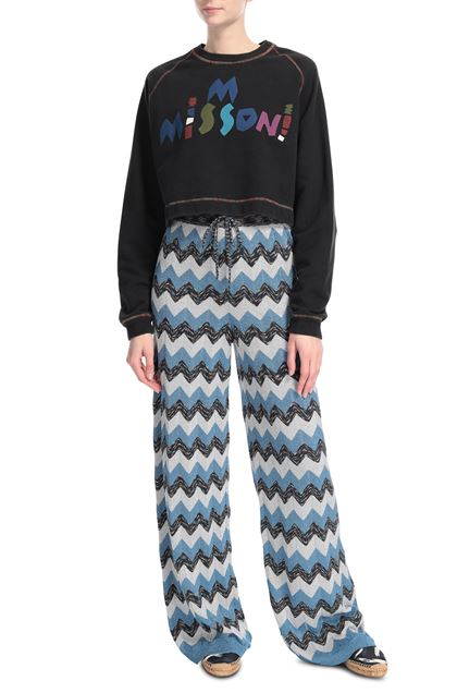 M MISSONI Pants Pastel blue Woman - Back