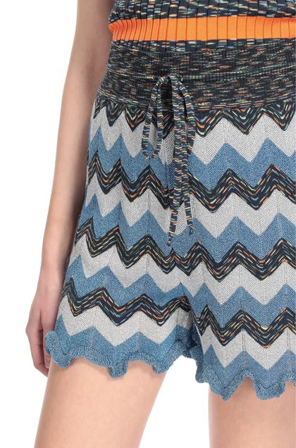 M MISSONI Shorts Pastel blue Woman - Front