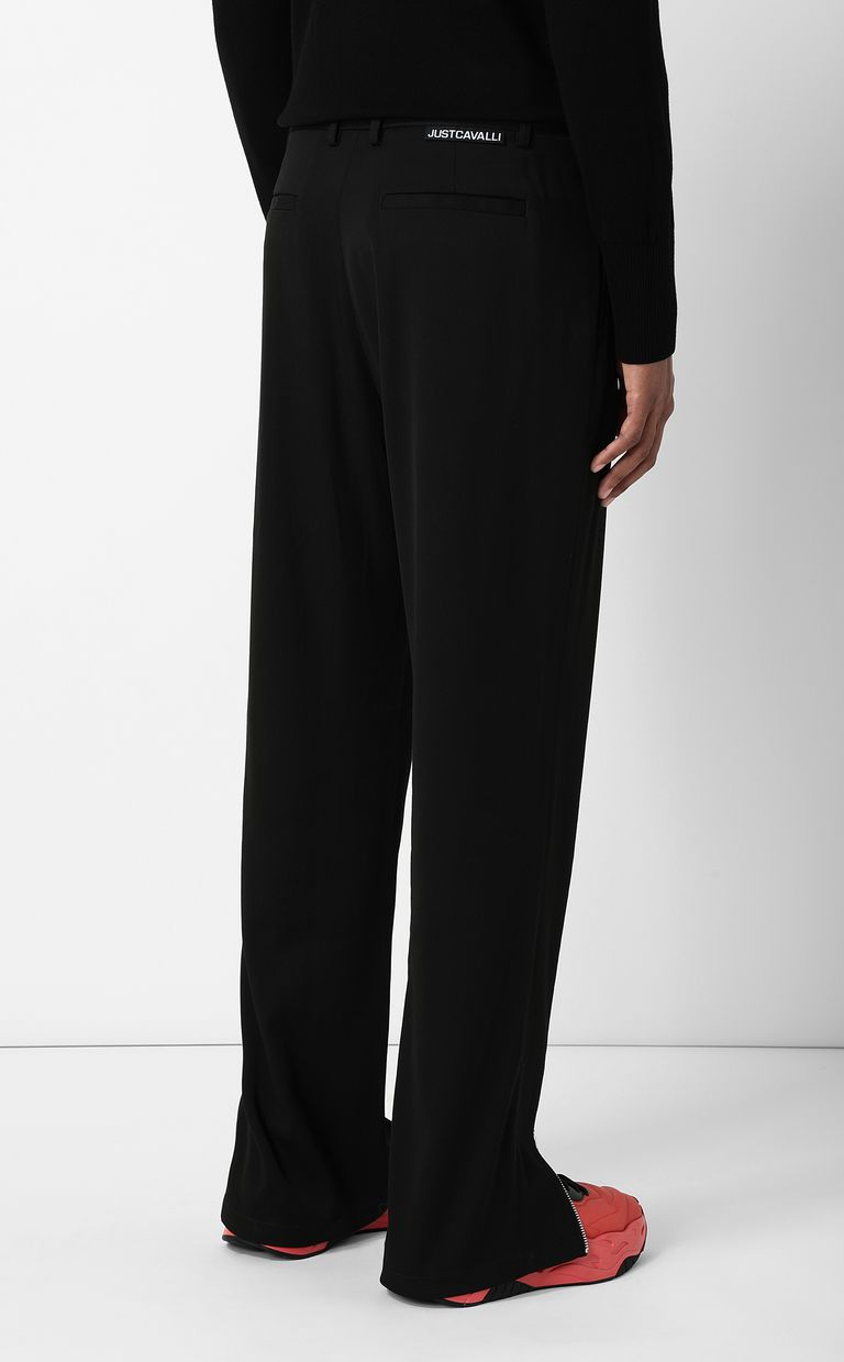 JUST CAVALLI Tailored trousers with zip detail Casual pants Man a